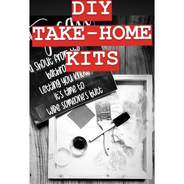 DIY KIT - Bathroom Sign Options