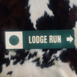 Lodge Run Trail Sign