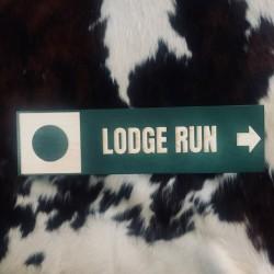Lodge Run Trail Sign