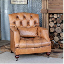 Carmel Tufted Leather Club