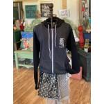 Flagstaff Zip Up Hoodie   Grey + Black