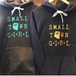 Small Town Girl Hoodie | Grey + Turquoise