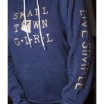 Small Town Girl Hoodie | Navy + Gold