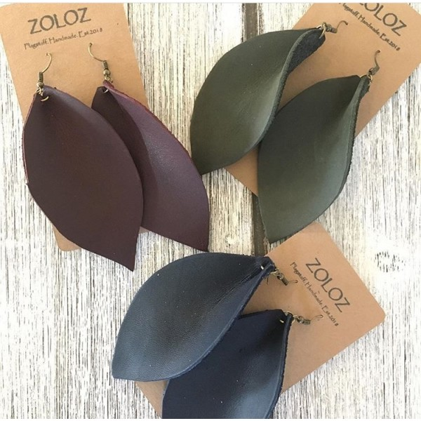 Leather Earrings - Local