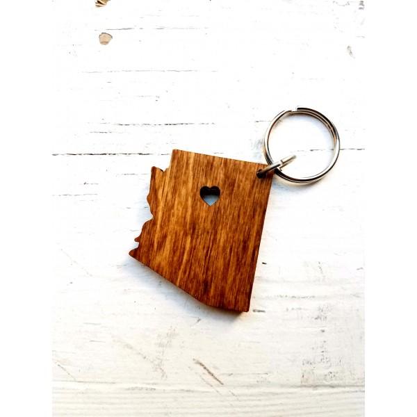 Wood Az. Keychain
