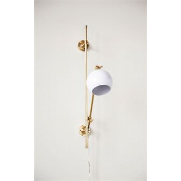 Brass & White Wall Sconce