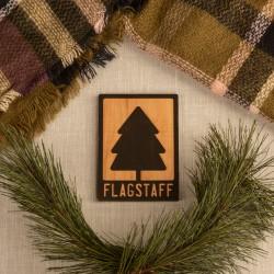 Wood Flagstaff W/ Pine tree Magnet