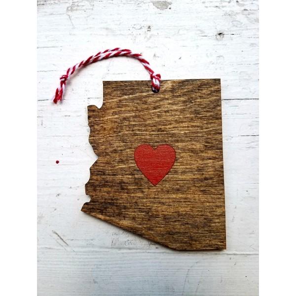 Wood Az. Ornament