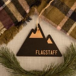 Wood FLG Ornament w/ Peaks