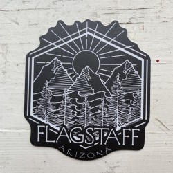 Sticker - Black and White Flagstaff