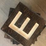 Wood Letter Squares - Custom