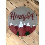Workshop Custom Round Wood Sign